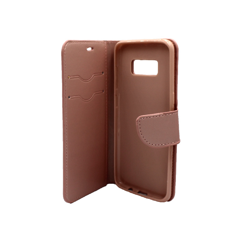 Θήκη Samsung Galaxy S8 πορτοφόλι ροζ χρυσό 3