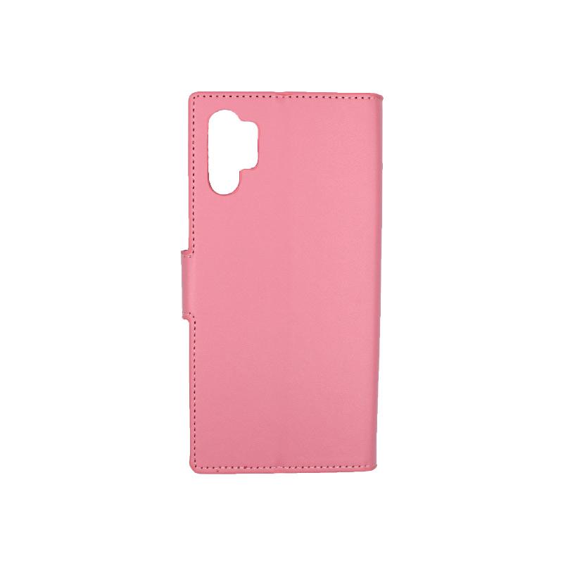 Θήκη Samsung Galaxy Note 10 Plus πορτοφόλι ροζ 2