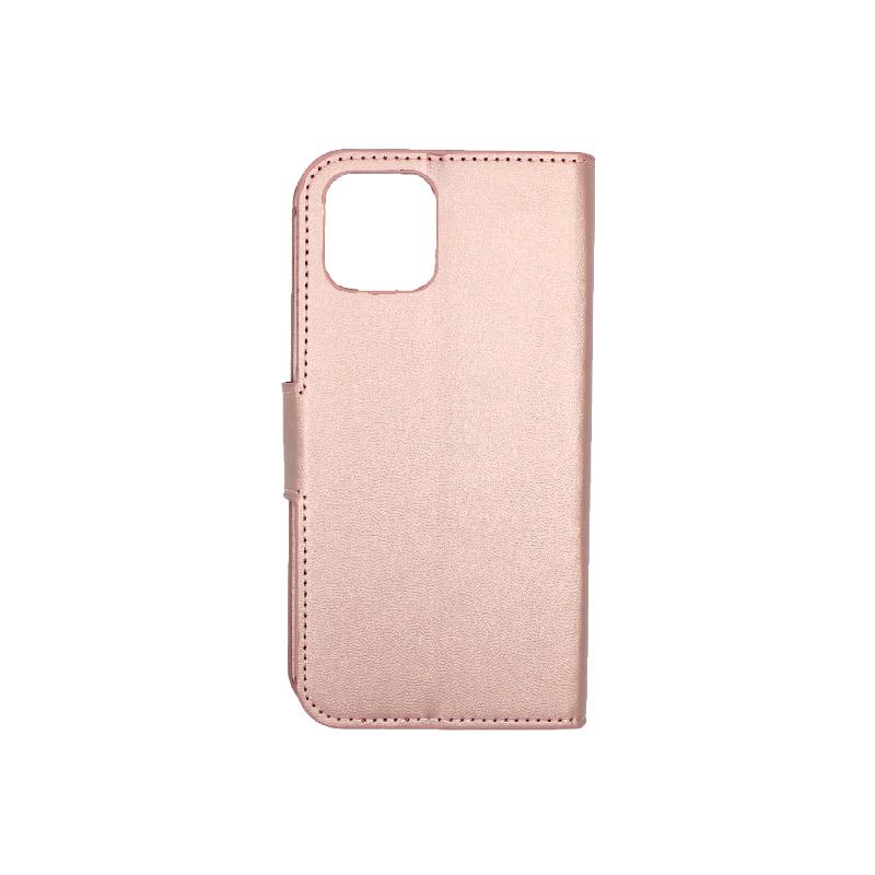 θήκη iphone 11 pro πορτοφόλι με λουράκι rose gold 2