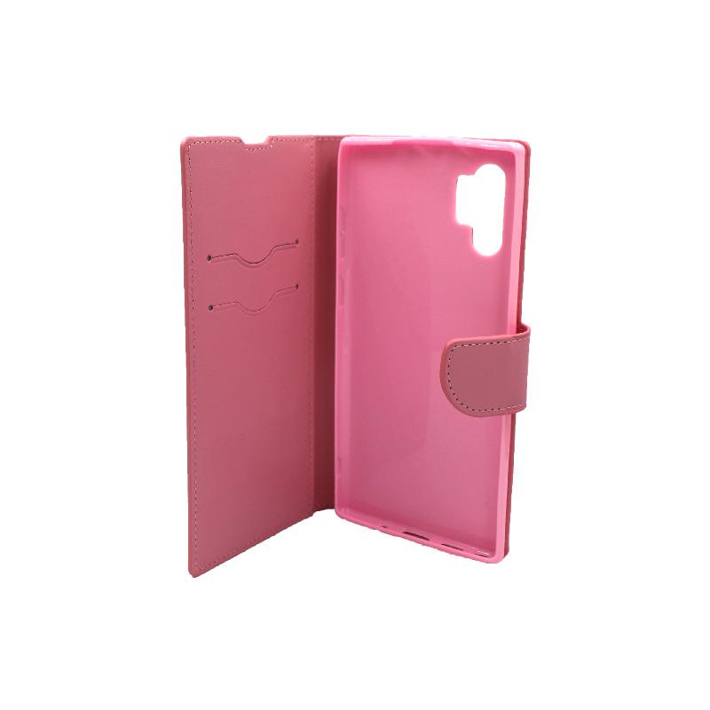 Θήκη Samsung Galaxy Note 10 Plus πορτοφόλι ροζ 3