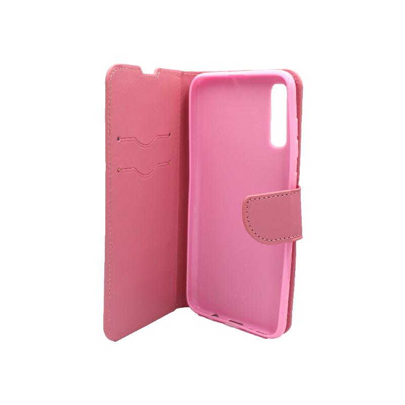 Θήκη Samsung Galaxy A70 / Α70S Wallet ροζ 3