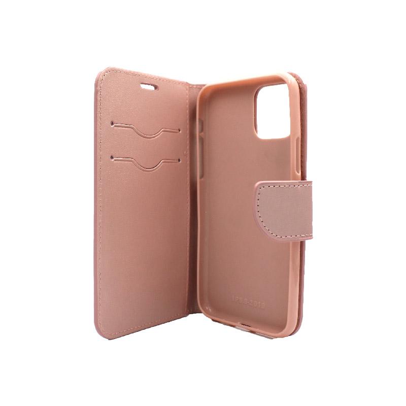 θήκη iphone 11 pro πορτοφόλι με λουράκι rose gold 3