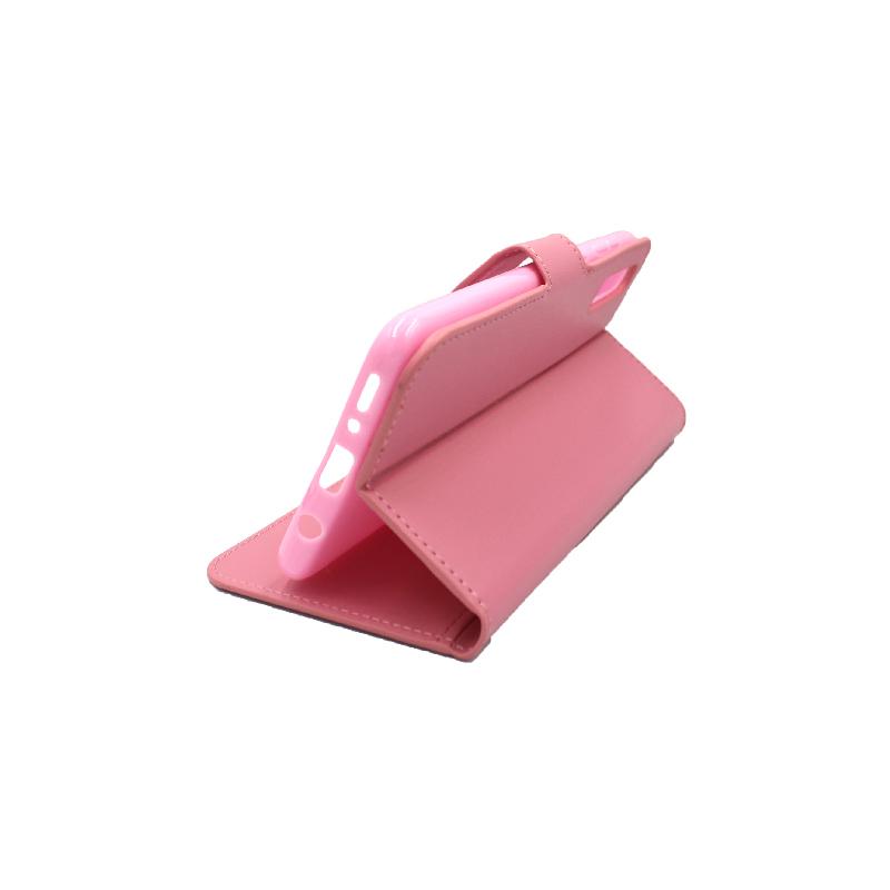Θήκη Samsung Galaxy A70 / Α70S Wallet ροζ 4