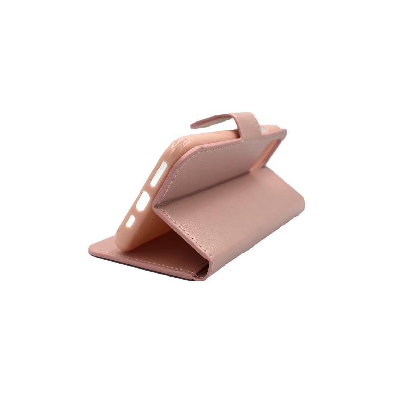 θήκη iphone 11 pro πορτοφόλι με λουράκι rose gold 5