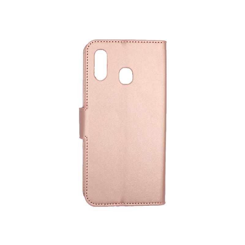 Θήκη Samsung Galaxy A20 / Α30 Wallet ροζ χρυσό 2
