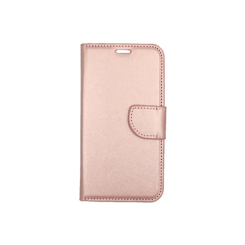θήκη iphone 11 pro πορτοφόλι με λουράκι rose gold 1