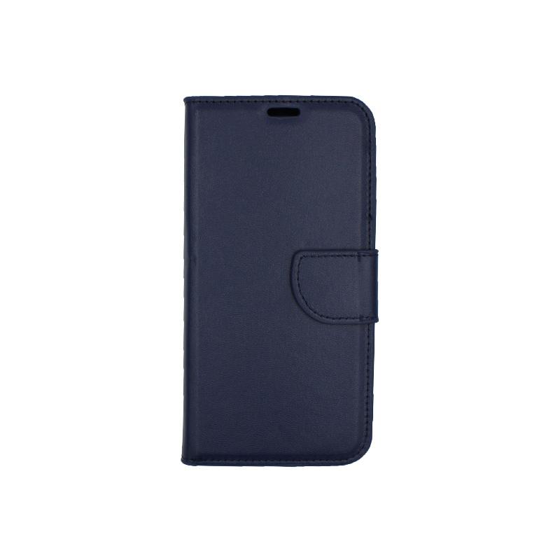 Θήκη Samsung Galaxy J6 πορτοφόλι σκούρο μπλε 1