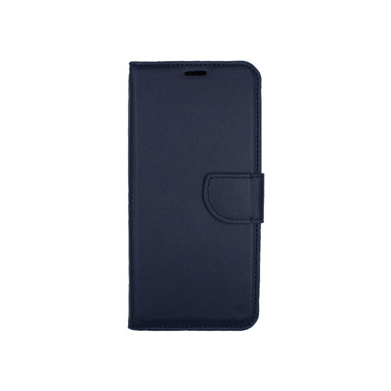 Θήκη Samsung Galaxy J4 Plus πορτοφόλι σκούρο μπλε 1