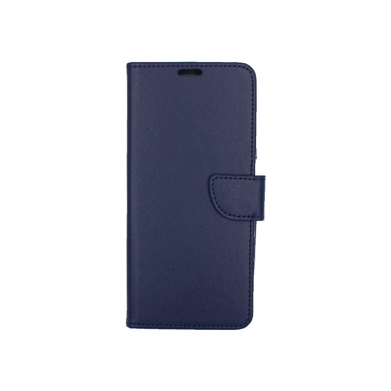 Θήκη Samsung A81 / Note 10 Lite Wallet σκούρο μπλε 1