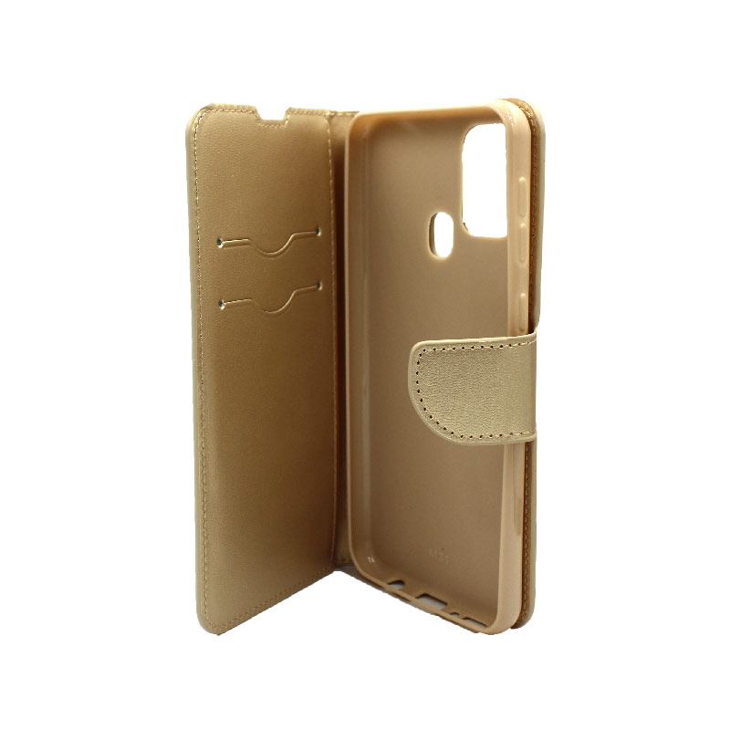 Θήκη Samsung Galaxy M31 Wallet χρυσό 3