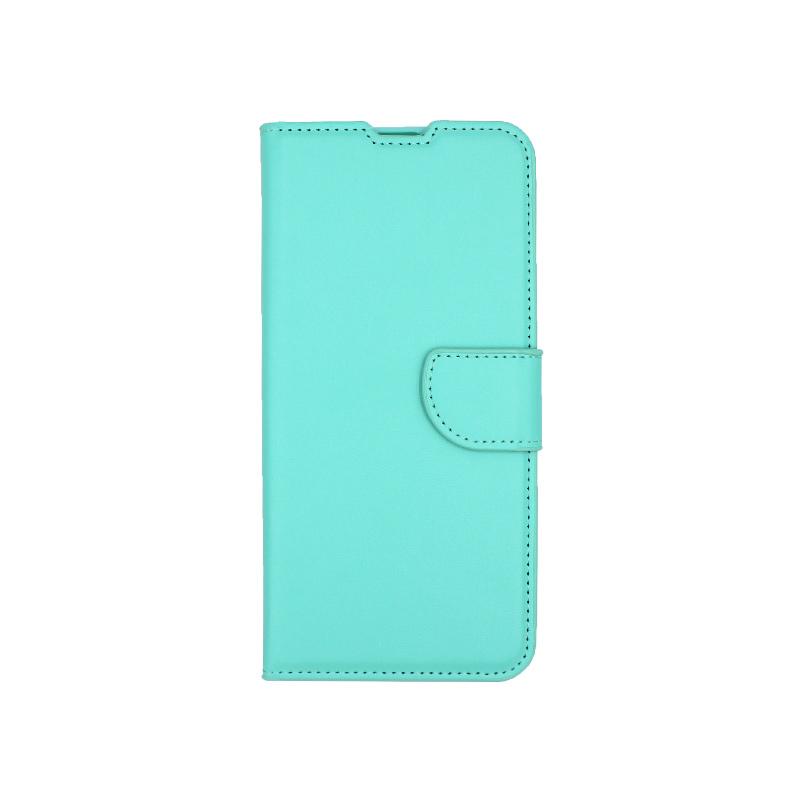 Θήκη Samsung Galaxy A70 / Α70S Wallet τιρκουάζ 1