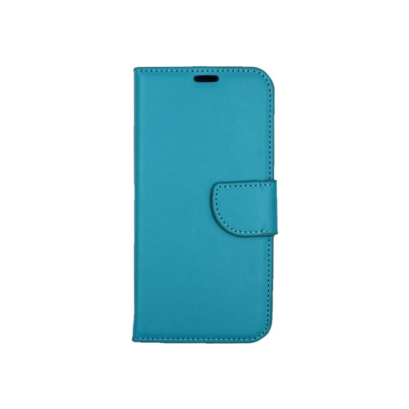 Θήκη Samsung Galaxy J6 πορτοφόλι γαλάζιο 1