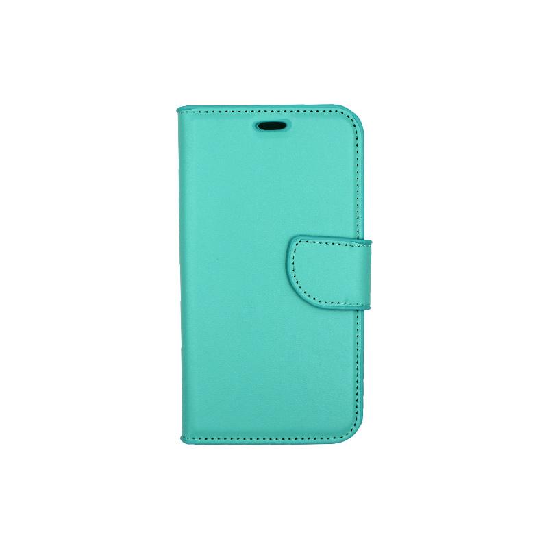 Θήκη Samsung Galaxy J3 2016 πορτοφόλι τιρκουάζ 1