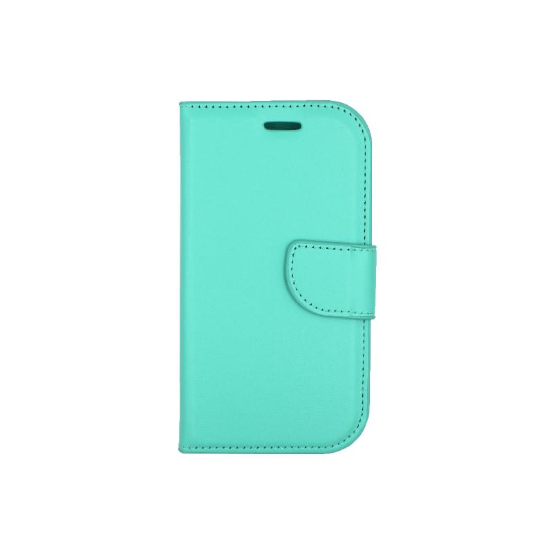 Θήκη Samsung Galaxy S3 πορτοφόλι τιρκουάζ 1
