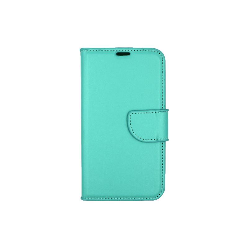 Θήκη Samsung Galaxy S5 πορτοφόλι τιρκουάζ 1