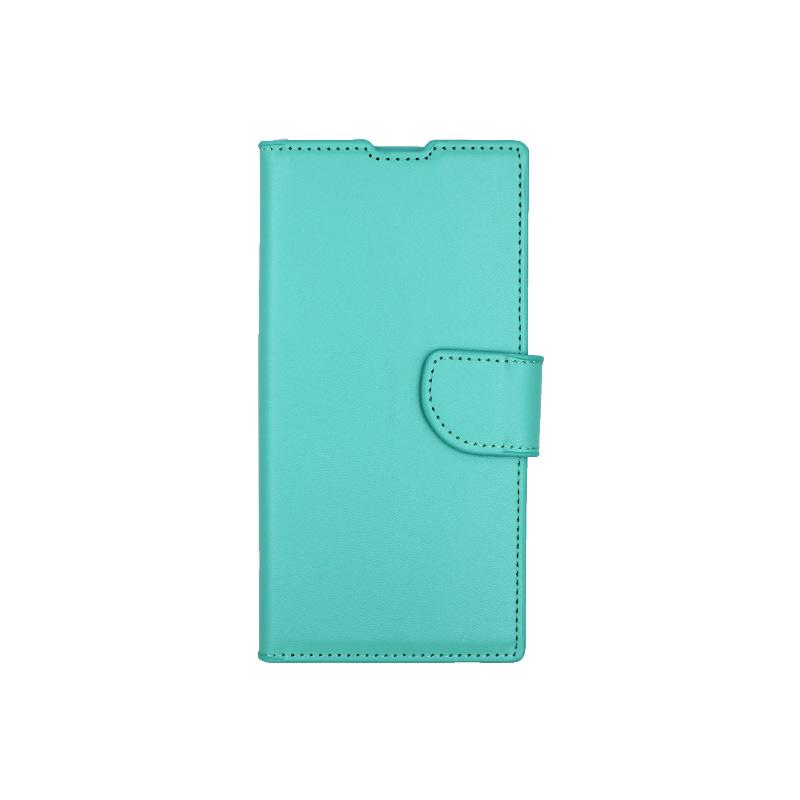 Θήκη Samsung Galaxy Note 10 πορτοφόλι τιρκουάζ 1