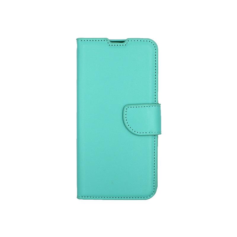 Θήκη Samsung Galaxy A10 / M10 Wallet τιρκουάζ 1