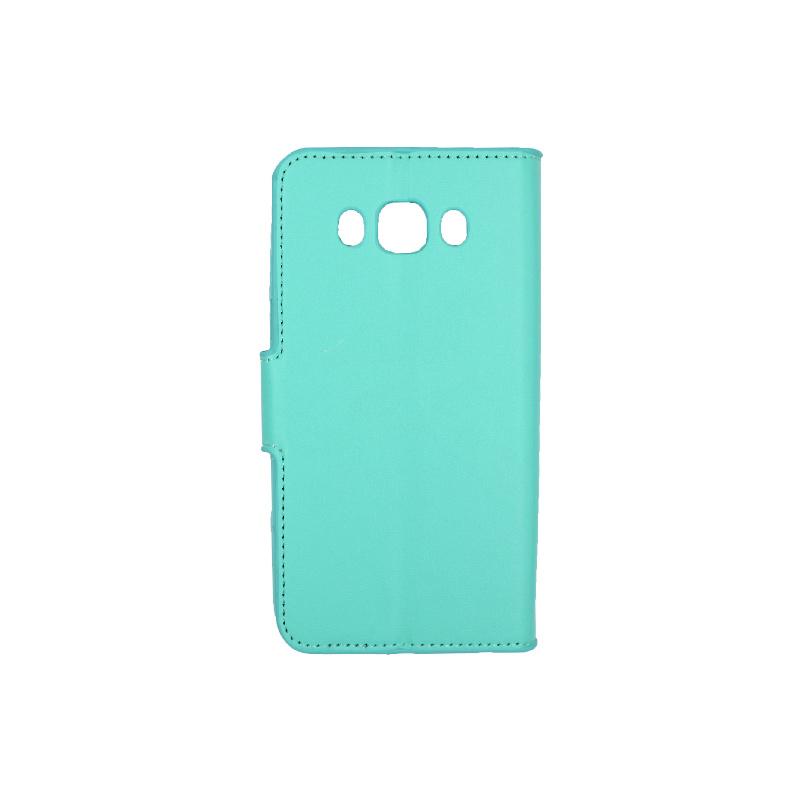 Θήκη Samsung Galaxy J5 2016 πορτοφόλι τιρκουάζ 2