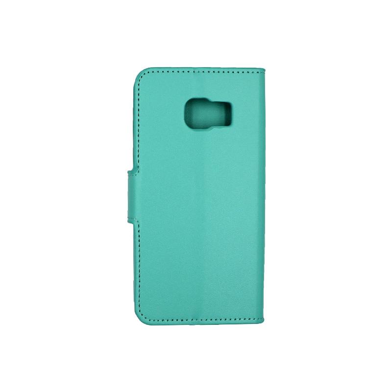 Θήκη Samsung Galaxy S6 Edge πορτοφόλι τιρκουάζ 2