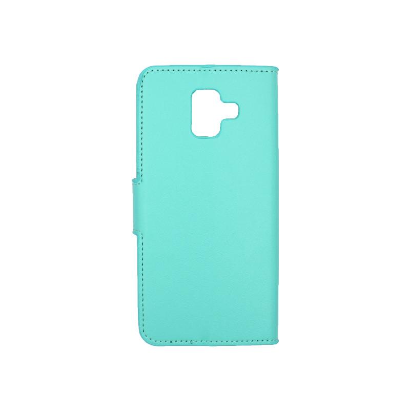 Θήκη Samsung Galaxy Α6 Wallet τιρκουάζ 2