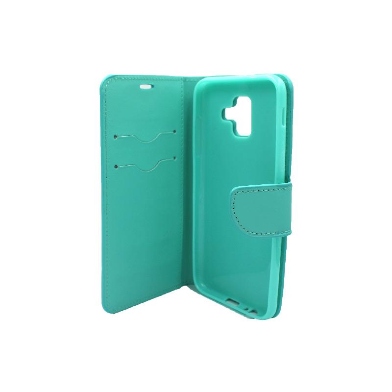 Θήκη Samsung Galaxy Α6 Wallet τιρκουάζ 3