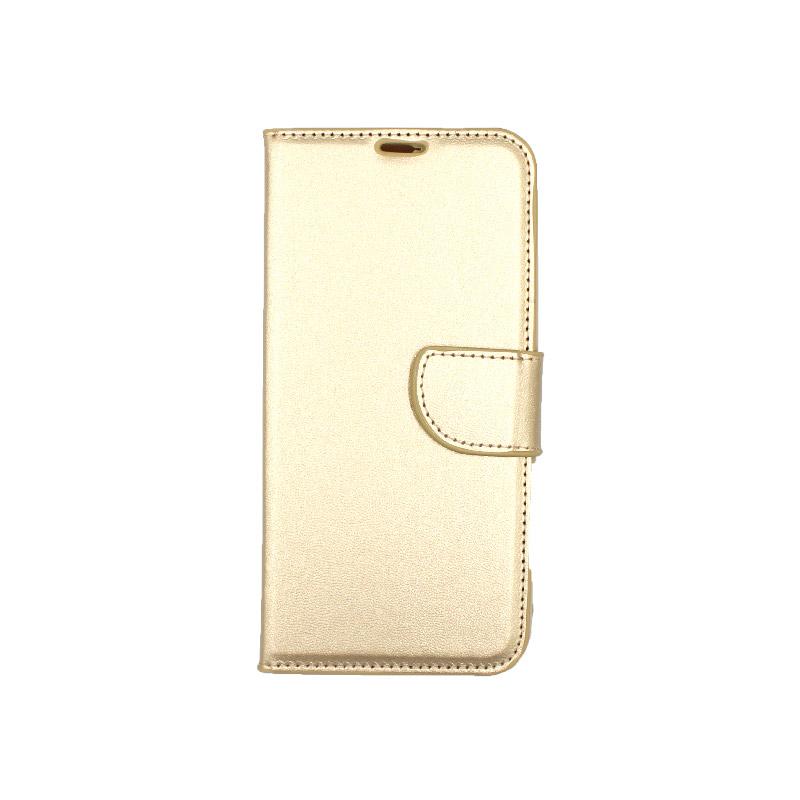 Θήκη Samsung Galaxy M20 Wallet χρυσό 1