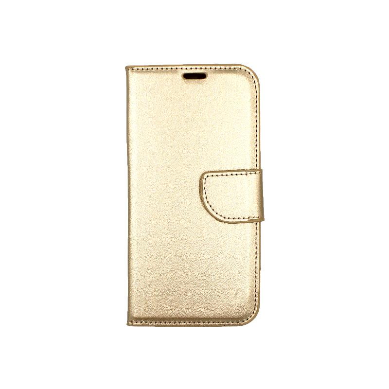 Θήκη Samsung Galaxy J6 πορτοφόλι χρυσό 1
