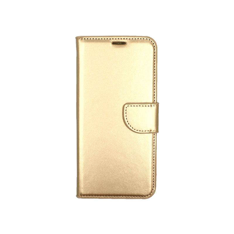 Θήκη Samsung Galaxy S8 Plus πορτοφόλι χρυσό 1