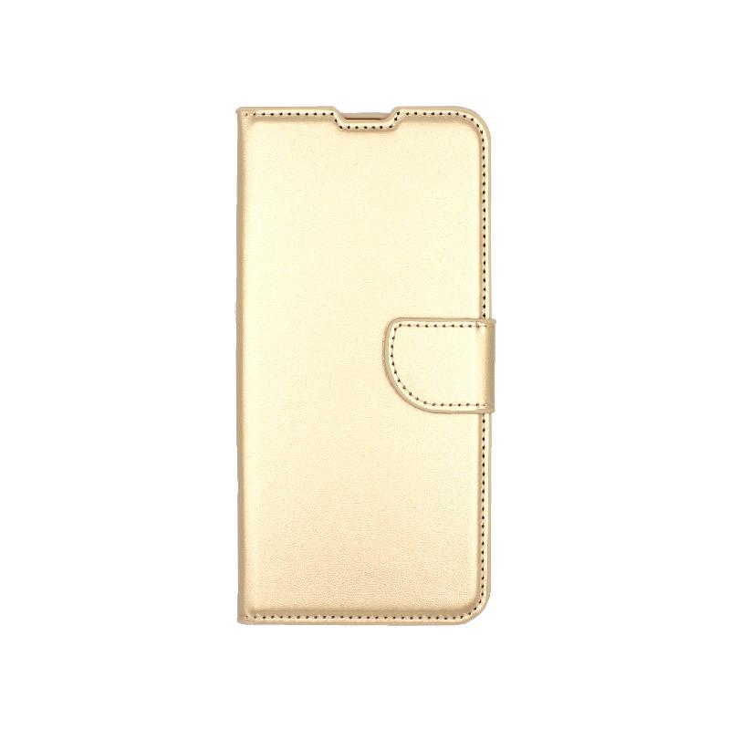 Θήκη Samsung Galaxy A70 / Α70S Wallet χρυσό 1