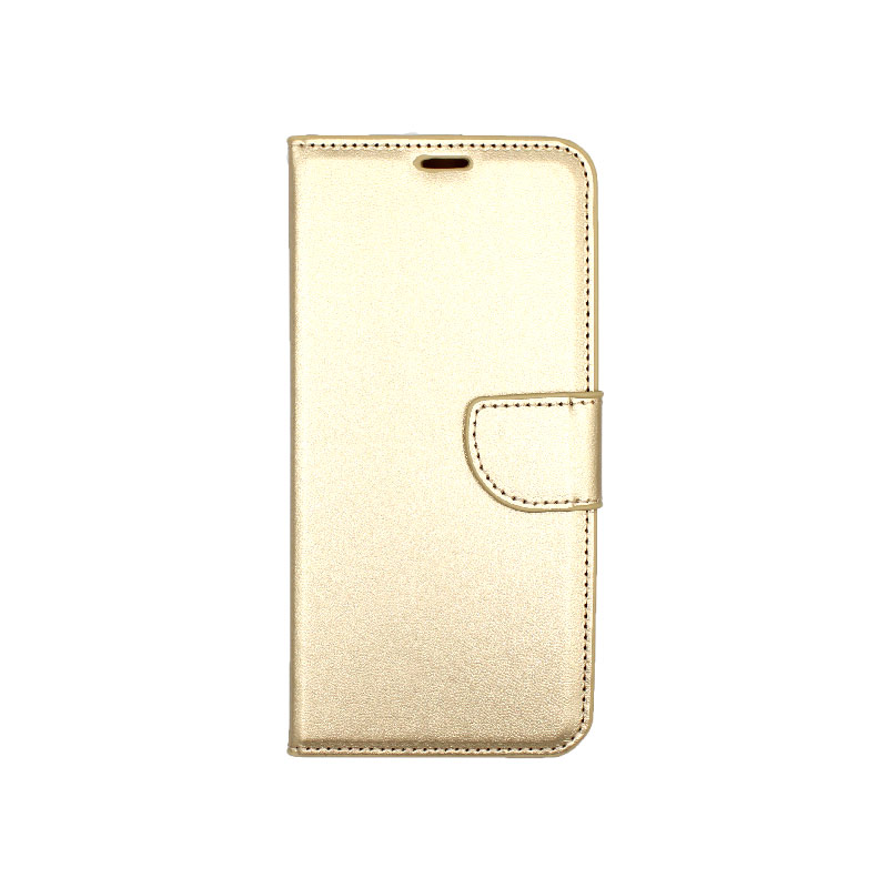 Θήκη Samsung Galaxy A6 Plus / J8 2018 Wallet χρυσό