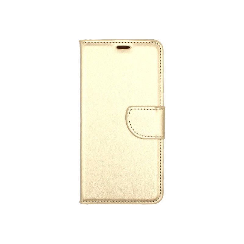 Θήκη Samsung Galaxy Α6 Wallet χρυσό 1