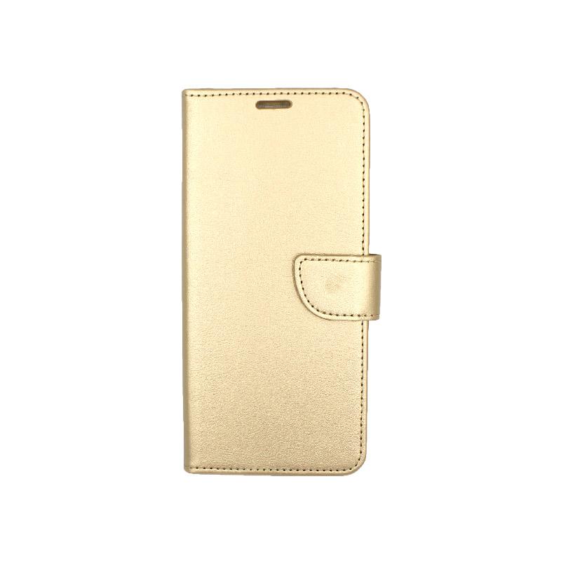 Θήκη Samsung A81 / Note 10 Lite Wallet σκούρο χρυσό 1