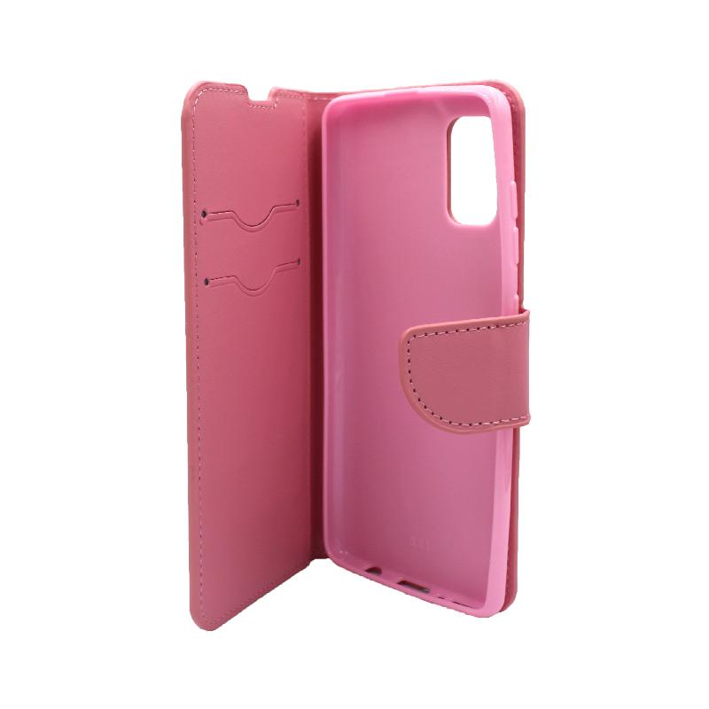 θήκη samsung A41 wallet ροζ 3