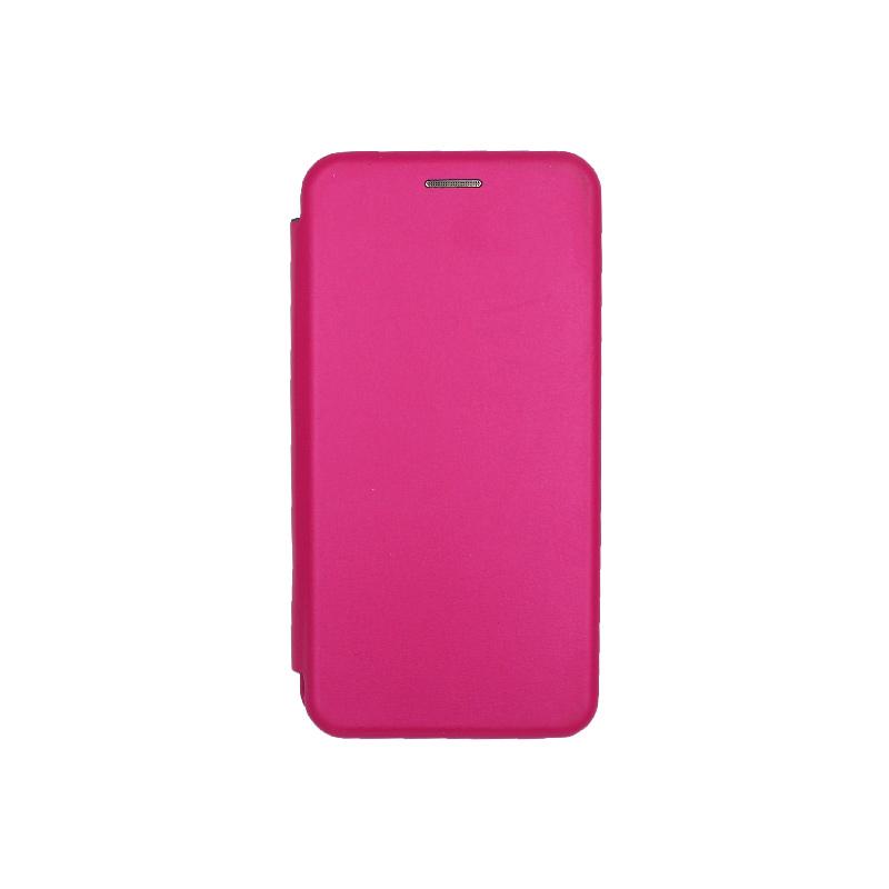 Θήκη Samsung Galaxy A40 Πορτοφόλι με Μαγνητικό Κλείσιμο Φουξ 1