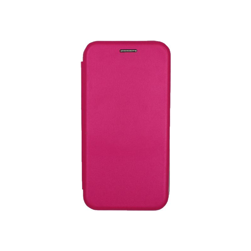 Θήκη Samsung Galaxy J3 2017 Πορτοφόλι με Μαγνητικό Κλείσιμο φουξ 1