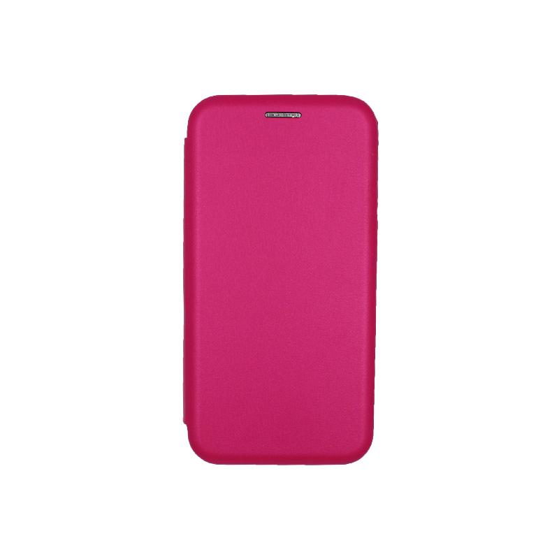 Θήκη Samsung Galaxy J2 Pro Πορτοφόλι με Μαγνητικό Κλείσιμο φουξ 1