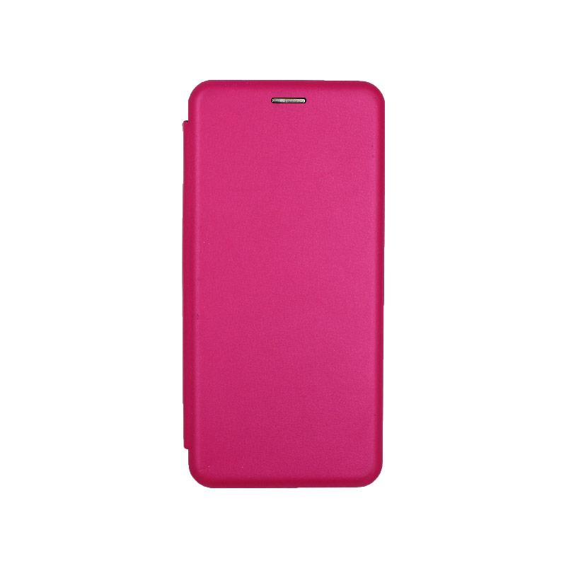 Θήκη Samsung Galaxy Note 10 Plus Πορτοφόλι με Μαγνητικό Κλείσιμο φουξ 1