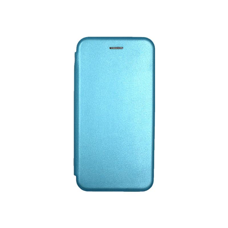 Θήκη Samsung Galaxy J4 Plus Πορτοφόλι με Μαγνητικό Κλείσιμο γαλάζιο 1