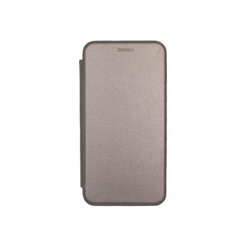 Θήκη Samsung Galaxy A40 Πορτοφόλι με Μαγνητικό Κλείσιμο γκρι 1