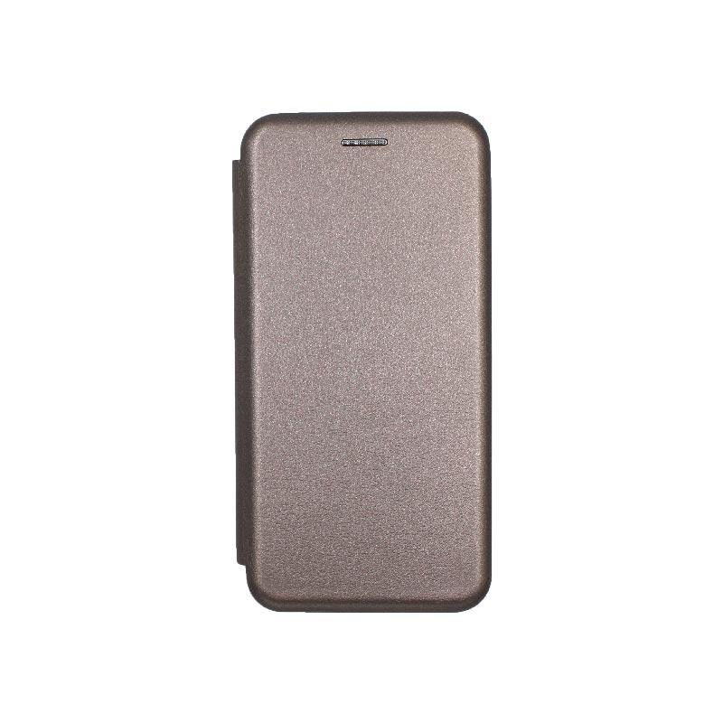 Θήκη Samsung Galaxy J6 Πορτοφόλι με Μαγνητικό Κλείσιμο γκρι 1
