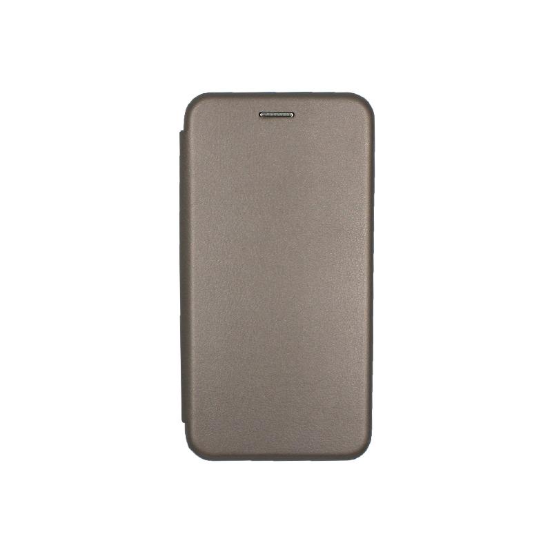 Θήκη Samsung Galaxy J7 2017 Πορτοφόλι με Μαγνητικό Κλείσιμο γκρι 1