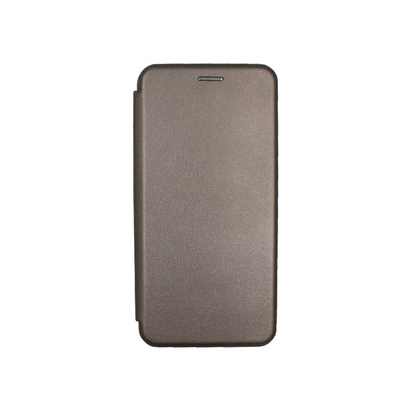 Θήκη Samsung Galaxy J4 Plus Πορτοφόλι με Μαγνητικό Κλείσιμο γκρι 1