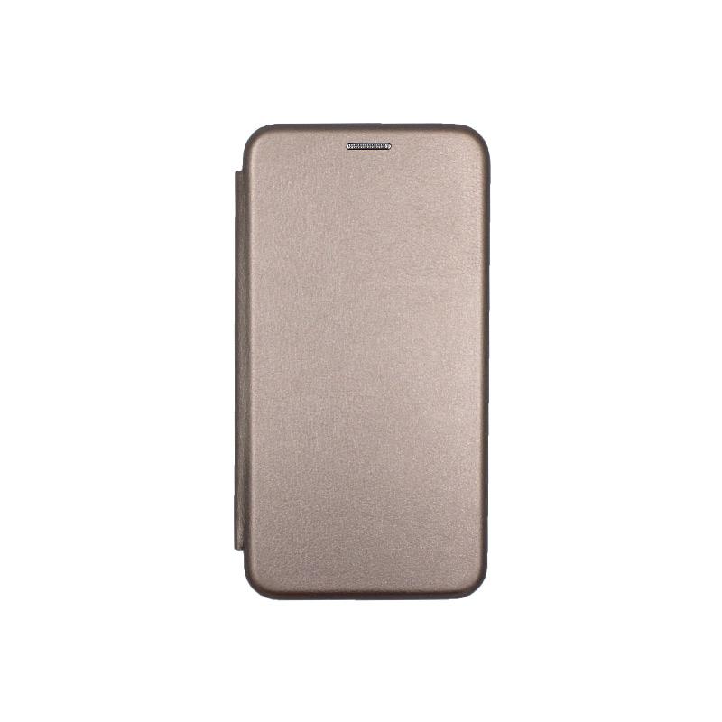 Θήκη Samsung Galaxy J3 2017 Πορτοφόλι με Μαγνητικό Κλείσιμο γκρι 1