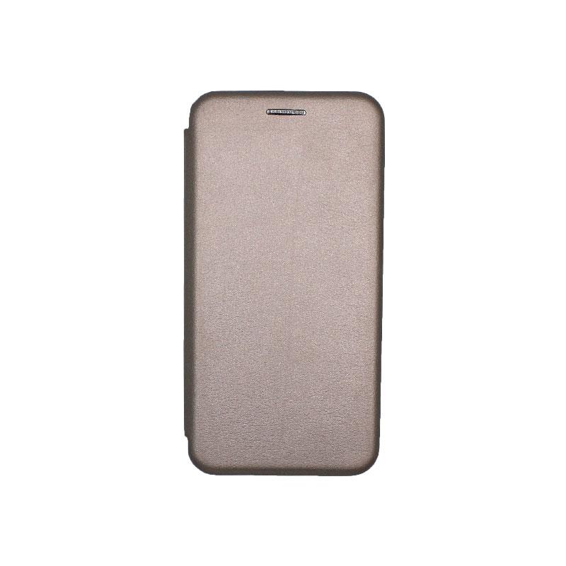 Θήκη Samsung Galaxy A3 2016 Πορτοφόλι με Μαγνητικό Κλείσιμο γκρι 1