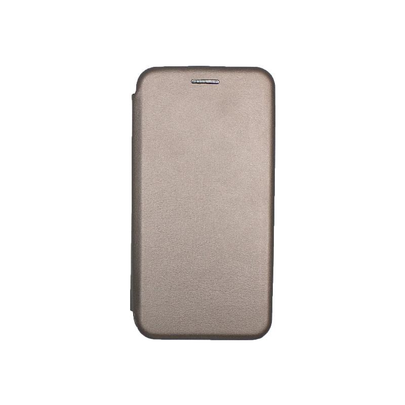 Θήκη Samsung Galaxy A3 2017 Πορτοφόλι με Μαγνητικό Κλείσιμο γκρι 1
