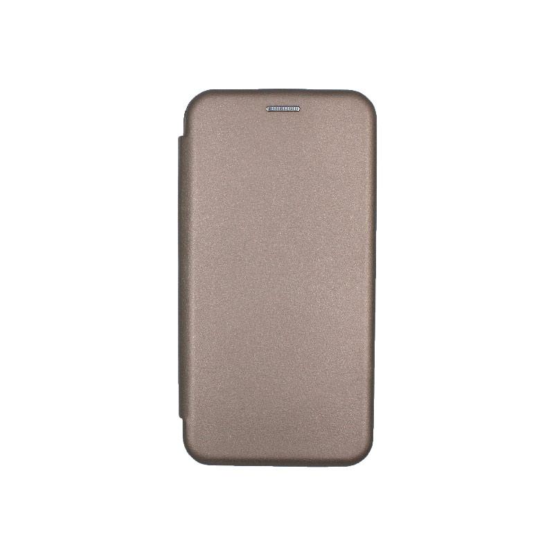 Θήκη Samsung Galaxy A10 / M10 Πορτοφόλι Με Μαγνητικό Κλείσιμο γκρι 1