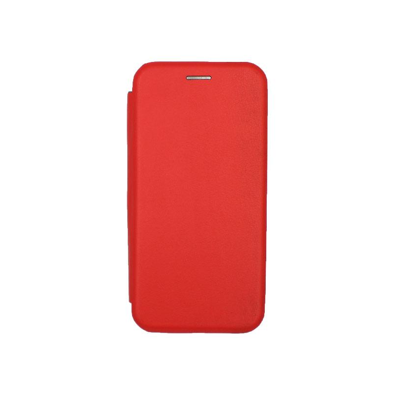Θήκη Samsung Galaxy A6 Πορτοφόλι με Μαγνητικό Κλείσιμο κόκκινο 1