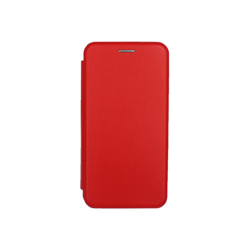 Θήκη Samsung Galaxy A40 Πορτοφόλι με Μαγνητικό Κλείσιμο κόκκινο 1