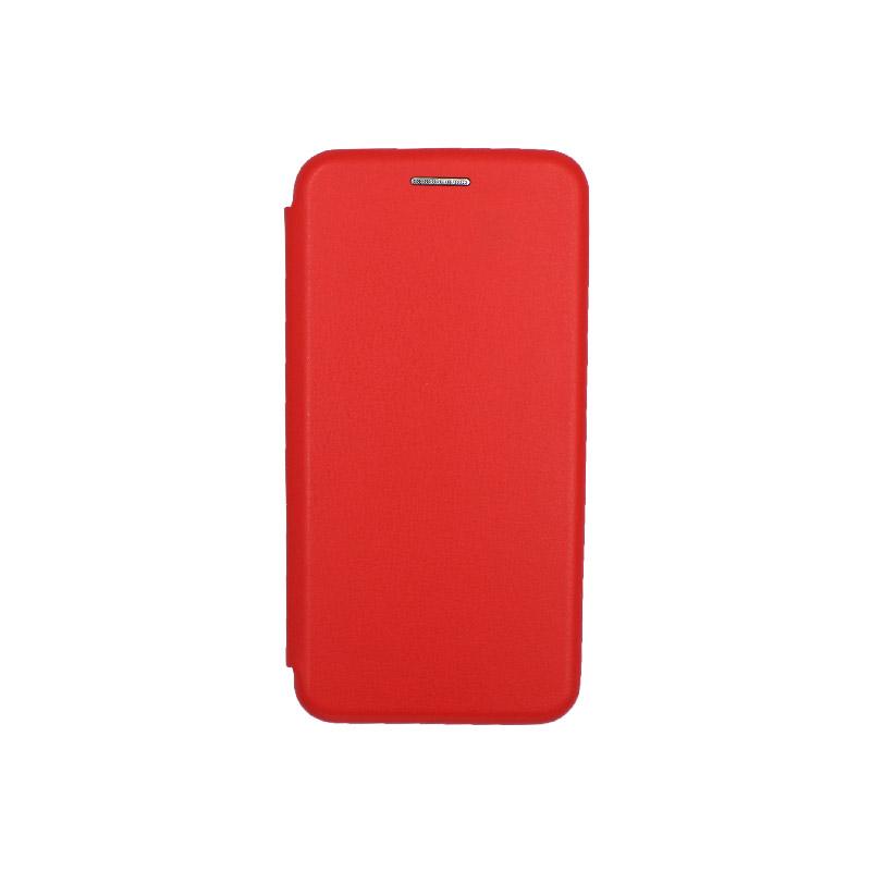 Θήκη Samsung Galaxy A3 2017 Πορτοφόλι με Μαγνητικό Κλείσιμο κόκκινο 1