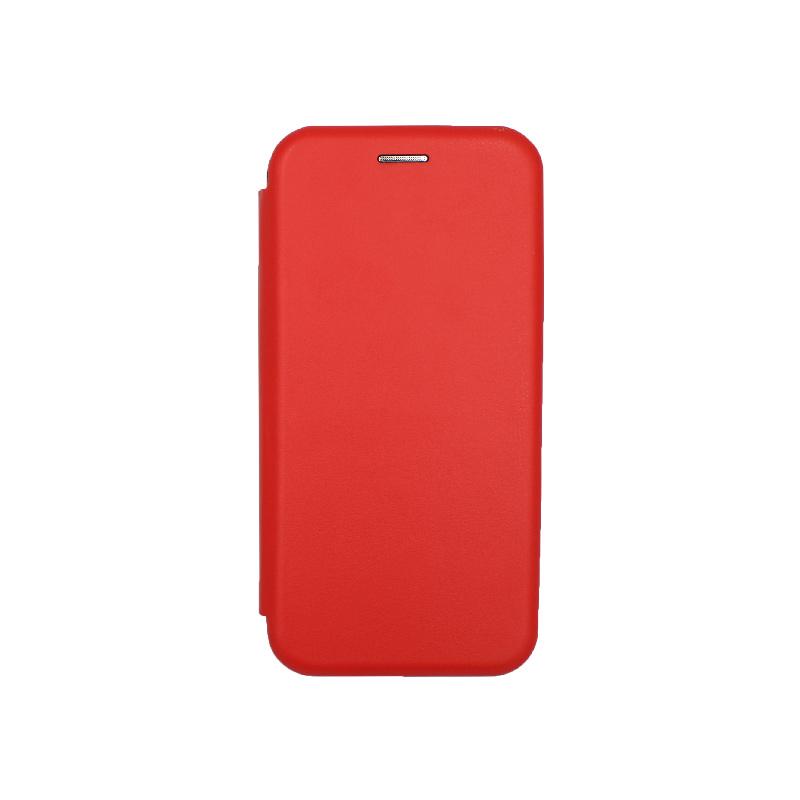 Θήκη Samsung Galaxy A5 / Α8 2018 Πορτοφόλι με Μαγνητικό Κλείσιμο κόκκινο 1
